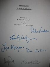 The Bionic Woman Signed TV Script Lindsay Wagner Lee Majors Richard Anderson rpt