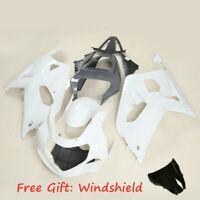 Unpainted Fairing Body Work Windshield Fit For Suzuki GSX-R 600 GSXR750 01-03 02
