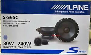 "Brand NEW Alpine S-S65C 6.5"" Component Car Speakers 2-Way S-Series SS65C 6 1/2"