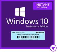 Instant Delivery - Microsoft Windows 10 Professional 32/64 Bit Product Key