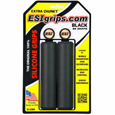 ESI 34mm Extra Chunky Silicone MTB Bike Grips Shock Absorbing 130mm - Black