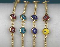 14k Gold Evil Eye Kabbalah Luck Charm Success Bracelet