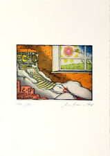 Uwe Bremer-farbradierung-firmato a mano, numerati - 1976