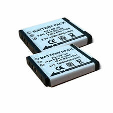 2x 3.7v 1000mAh Battery For PENTAX D-LI122 D-LI68 D-L168 D-BC122 D-BC122E New