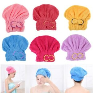 Quickly woman After Shower Dry Hair Wrapped Towel Bathing Cap Hat FREE SHIPPING