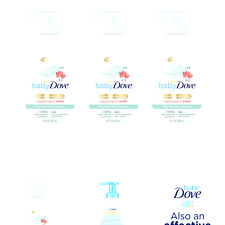 Baby Dove Baby Wash and Shampoo Baby Bath Products for Baby's Delicate Skin R.
