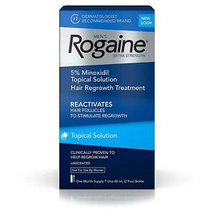Rogaine Extra Strength Mens Hair Regrowth Treatment 1 Month 5% Minoxidil
