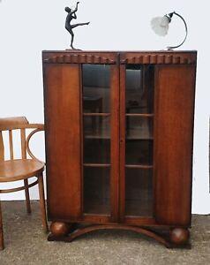 Art Deco Style Glazed Bookcase