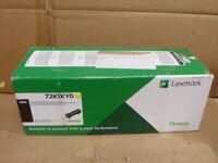 Lexmark 72K1XY0 Yellow Extra High Yield Toner CS820 Genuine OEM