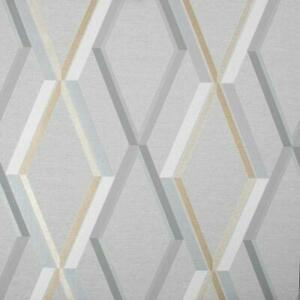 Superfresco Prestige Geometric Wallpaper Grey Gold Textured Metallic Vinyl