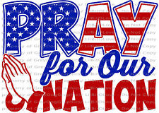 Pray for our Nation Vinyl Decal Patriotic Flag USA America Sticker Christian Car