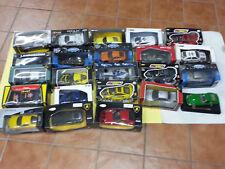 n.24 modellini auto scala1.24 maserati-porsche-corvette-aston martin-lamborghini
