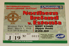 Ticket for collectors * Northern Ireland - Estonia 2006 in Belfast