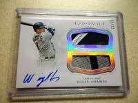 2019 PANINI FLAWLESS BASEBALL DUAL PATCH AUTO WILLY ADAMES  21/25 RARE ON CARD