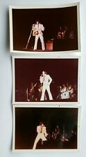 Elvis Presley - 3 Original Concert Photos - 1971 &1972