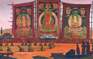 Nicholas Roerich Mongolian Tsam Religious Ceremony Poster Giclee Canvas Print