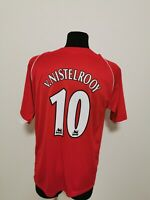 Manchester United Football Jersey No.10 V. Nistelrooy T-Shirt Men's Size L