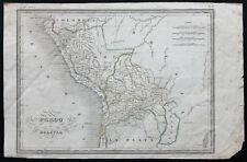 1840ca - Carte ancienne Pérou et Bolivie - Malte-Brun / Thierry - Antique Map