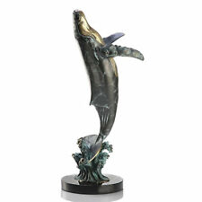 Large Humpback Whale Brass Bronze Art Sculpture Statue by SPI Home 30990-New