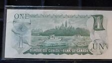 1973 Canada one dollar note in uncirculated condition