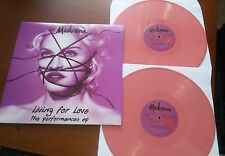 Madonna Living For Love-The Performances ep (Two Pink Vinyl Discs LP LTD. Promo