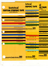 SCOTCHCAL CUSTOM STRIPING TAPE COLOR CHART CHART & GUIDE