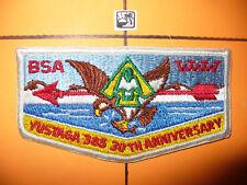 OA Yustaga 385,S-20,1948-1978,30th Ann Lodge Flap,W/A-1 De,Gulf Coast Council,FL