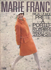 MARIE FRANCE N°126 août 1966 Mode vintage  Picasso Hoélic