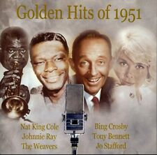 Golden Hits of 1951 (cd, Cedar) Johnnie Ray, Nat King Cole, Jo Stafford... VGOOD