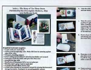 1:12 Paper Mini Dollhouse size Book Kits~Story of the Three Bears! A favorite!