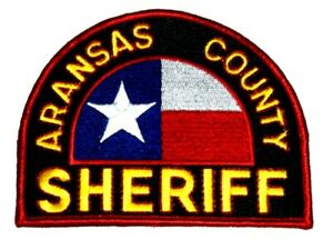 ARANSAS COUNTY TEXAS TX Sheriff Police Patch STATE FLAG ~