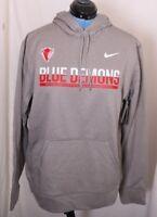 DePaul University Blue Demons Nike Therma-Fit Pullover Sweatshirt Hoodie Men's L