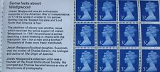 GB QE II: SG X855n: Booklet pane (DX 1): The Story of Wedgwood: unused/MNH
