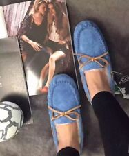 OZLANA SHEEPSKIN LINED MOCCASIN SUEDE SHOES. NEW. SIZE 6UK / 38 EURO. RRP$145