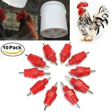 10 Poultry Water Drinker Nipples Chicken Hen Quail Waterers
