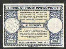 IRC INTERNATIONAL REPLY COUPON SWITZERLAND 50 CENTIMES 1956