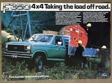 1983 Ford F350 4x4 original Australian sales brochure