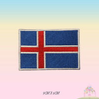 Iceland National Flag Embroidered Iron On Patch Sew On Badge Applique