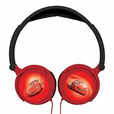 OFFICIAL DISNEY CARS LEXIBOOK STEREO HEADPHONES KIDS NEW BLACK RED FREE P+P