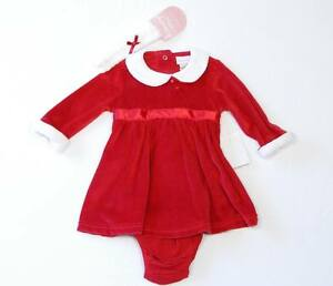 Savannah Christmas Dress Bloomers & Headband Set NWT