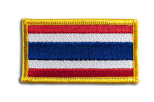 Thailand Flag Embroidered Woven Iron On/ Sew On Badge Patch 8x4.5cm