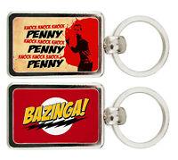 LLAVERO METAL THE BIG BANG THEORY SHELDON COOPER PENNY BAZINGA KEYRING