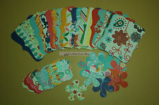 48 Piece Sizzix Stampin Up Top Note, Flower & Tag Set -Double Sided w/glitter