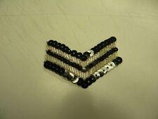 mercerie neuf guipure noir blanc militaire ecusson   7X3cm noir  couture