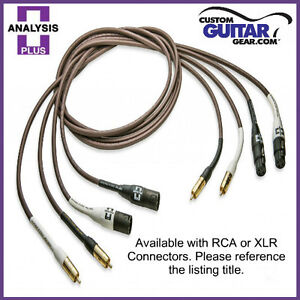Analysis Plus Chocolate Oval-In Interconnect Cables, PAIR, Length 0.5M - RCA-RCA
