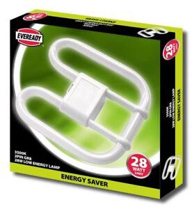 28w EVEREADY 2D Energy Saving 2 & 4 PIN DD Butterfly Lamp - Standard White 3500k