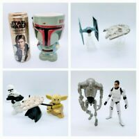 Star Wars Tie Fighter Millennium Falcon Boba Fett Han Solo Yoda Trooper Gift Lot