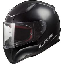 LS2 FF353 Rapid Plain Motorcycle Scooter Crash Helmet Black White Silver New