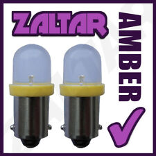 2 X 233 Led Amber Rear Bulbs Ba9s Tw4 Piaggio-vespa Ciao 50 Pxv (C6v2t)