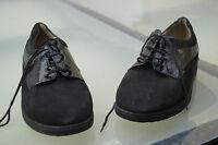 FINN Comfort Damen Schuhe Schnürschuhe Einlagen Gr.4 37 Nubuk Leder schwarz